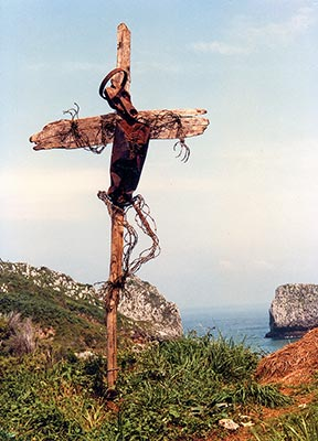 Assemblage Barbed Wire of Christ by Lubo Kristek, 1983